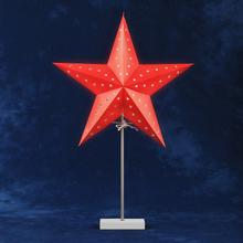 Konstsmide Pappersstjärna Vit Fot Röd 2169-502