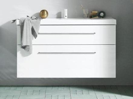 Dansani Inzo Møbelpakke m/skuffer og Menuet servant 121x45 cm, Hvit matt - Ekstra høy