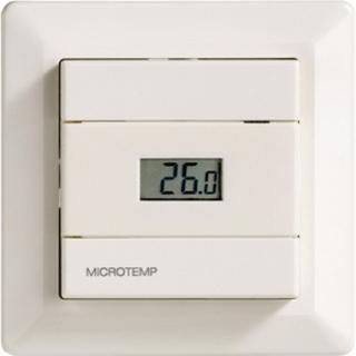 Micro Matic MTC2 1991 termostat med gulvføler Hvit