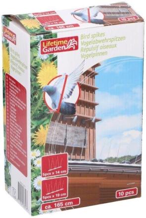 Bird Spikes 165 cm - suoja puutarhaasi