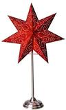 Antique Röd 55Cm Stjärna På Fot