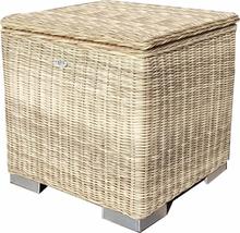 Kissen box I 60 x 60 x 60cm - Naturel - rundes Geflecht