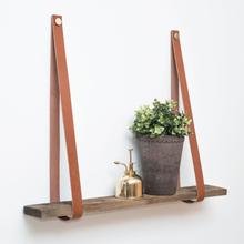 Linfalk Hyllhängare Konsol Läder Cognac/Mässing