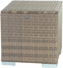 Kisssenbox I 60 x 60 x 60cm - Cappuccino - Flaches Polyrattan