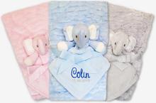 Babyfilt med namn presentpaket (Färg: Rosa)