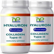 NP-Vital BioCell® 120 Collagen-II Hyaluronsäure Kapseln - hochkonzentriert mit 1000mg/Tag (2x60 Caps)