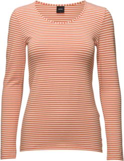 Ladies Shirt, Liitu T-shirts & Tops Long-sleeved Oransje Nanso