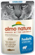 Almo Nature Holistic Sterilised - 6 x 70 g mit Kabeljau