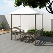 vidaXL Trädgårdspaviljong med bord och bänkar 2,5 x 1,5 x 2,4 m