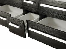 Beliani Badrumsmöbler väggskåp 2 spegel 2 tvättställ och glashylla svart MADRI