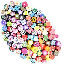 100kpl 3d sokeriruo'on stick rod tarra nail art koristeet (random väri)