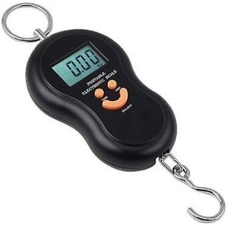 Svart resa 0,01 g till 40kg Digital hängande skalor för LuggageBagS...
