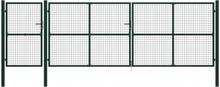 Hageport stål 500x150 cm grønn