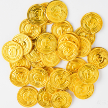 50Pcs Simulation Pirates Gold Coins One Piece Game Coin For Kids Simulation Toys Party Supplies Treasure Coins Interactive Games