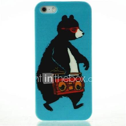 kuljettavat nauhuri karhu malli kova kotelo iPhone 4 / 4S