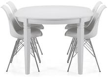 Läckö Jatkettava Ruokapöytä 150 cm Ovaali Valkoinen
