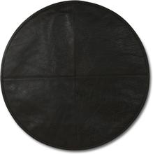 2 st Stolsdyna i läder - Mörkbrun