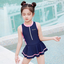 Girls One Piece Swimsuit Skirt 3-9 Years Solid Kids Baby Toddler Beach Wear Swimming Wear Bathing Suit