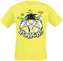Looney Tunes - Sylvester - Yowch! -T-skjorte - gul
