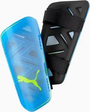 ULTRA Light Strap scheenbeschermers voetbal, Blauw/Geel, Maat XS | PUMA