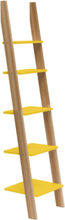 ASHME Leiterregal 45x35x180cm - Gelb - Gelb