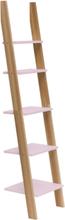 ASHME Leiterregal 45x35x180cm - Düsteres Rosa - Rosa