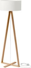 TALES Eschenholz Stehlampe - Weiß Lampenschirm - Weiß \ Transparent