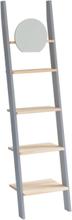 ASHME klein Leiter mit Spiegel - dunkelgrau/Eschenholz Regale - Dunkelgrau