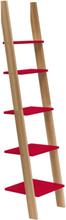 ASHME Leiterregal 45x35x180cm - Rot - Rot