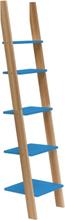 ASHME Leiterregal 45x35x180cm - Blau - Blau