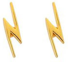 Snap Earrings Flash Gold, ONE SIZE