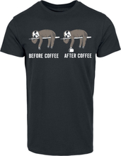 Before Coffee After Coffee - -T-skjorte - svart