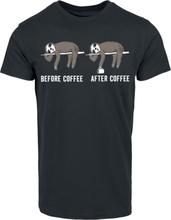Before Coffee After Coffee - -T-skjorte - svart