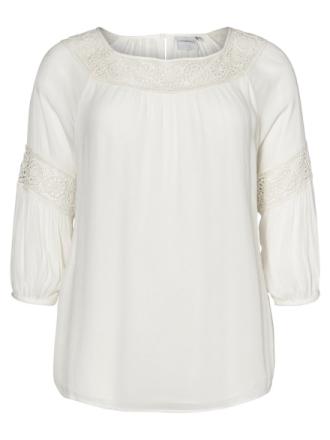 JUNAROSE Woven Blouse Women White