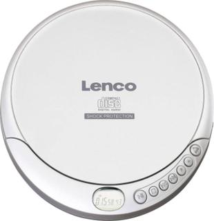 Lenco CD-201 Bärbar CD-spelare CD, CD-R, CD-RW, MP3 Batteri-laddningsfunktion Silver