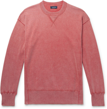 Mélange Cotton Sweatshirt - Brick