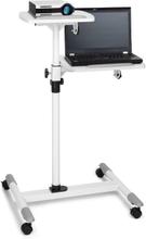 TS-6 projektor-vagn laptop-bord justerbar höjd 83 - 107 cm vit