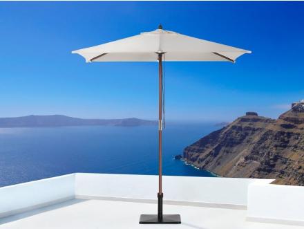 Beliani Parasoll 195 x 144 cm beige FLAMENCO