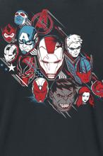 Avengers - Endgame -T-skjorte - svart, hvit