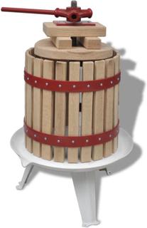 vidaXL Frukt- och vinpress 12 L