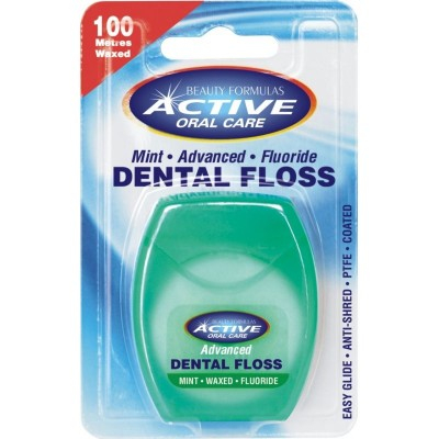 Active Oral Care Advanced Mint Fluoride Dental Floss 100 m