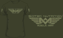 Scitec Muscle Army T-shirt - Woodland - T-skjorte - Army green