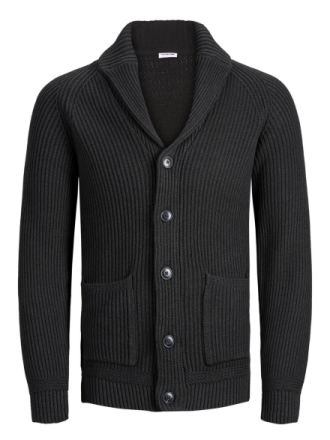 JACK & JONES Shawl Neck Knitted Cardigan Men Blue