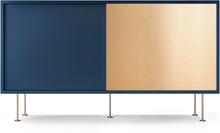 Decotique - Vogue Sideboard 136L, Mørkeblå/1DB1B/Messing