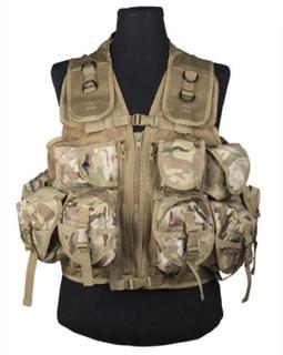 Taktisk vest, 9 lommer - Multicam