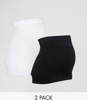 Mamalicious maternity 2 pack bump band - Black/white