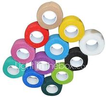 urheilu ulkona 2.5cm x 4,5 m 12rolls/lot itseliimautuva kuitukankaita yhtenäinen elastinen side (valikoituja väri)