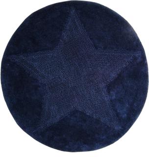 Star Rund badrumsmatta Navy-blå - Rund 55 cm
