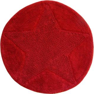Star Rund badrumsmatta Röd - Rund 55 cm
