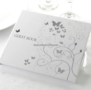 Eleganta fjärilar - gästbok till bröllopet